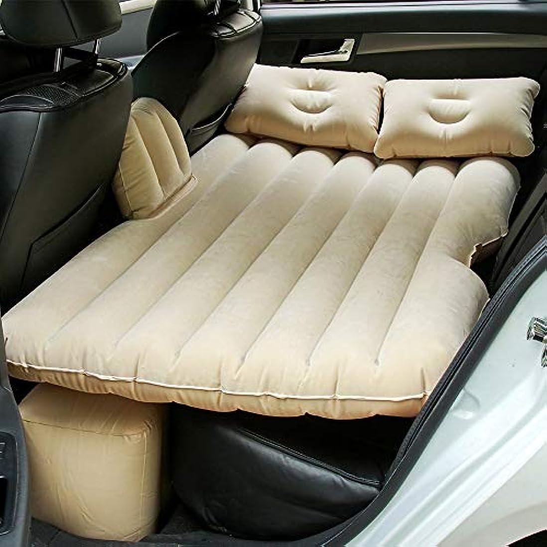 控えめな協力的焦がすZXF 車の群がっている膨脹可能なベッド。分割デザイン多目的。マットレス付き。カートラベルベッド。膨脹可能なマットレス。エアーポンプ付きカーマットレス。 暖かくて快適です (色 : Beige)