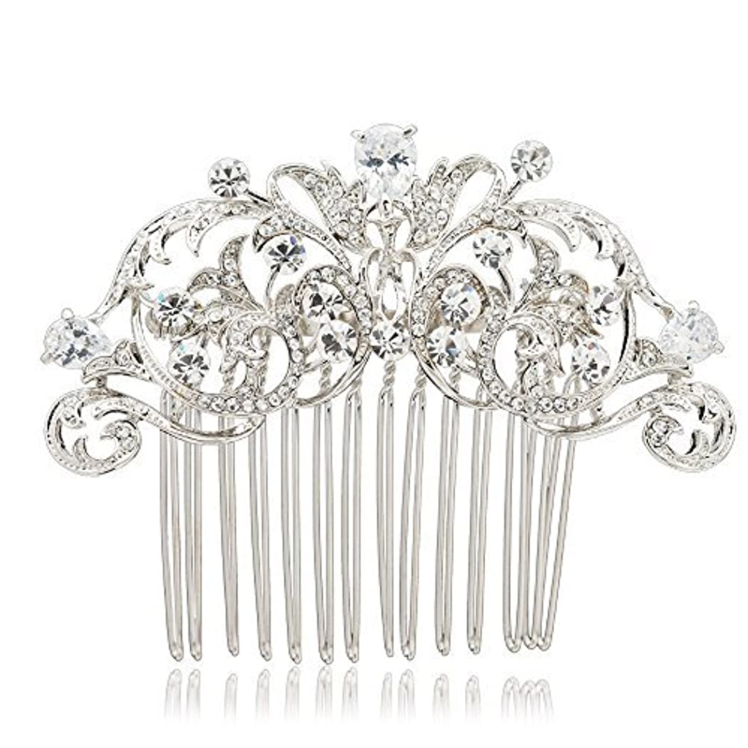 貼り直す災難受け入れたSEPBRIDALS Crystal Rhinestone Hair Side Comb Pins Bridal Wedding Women Hair Accessories Jewelry 2253R [並行輸入品]