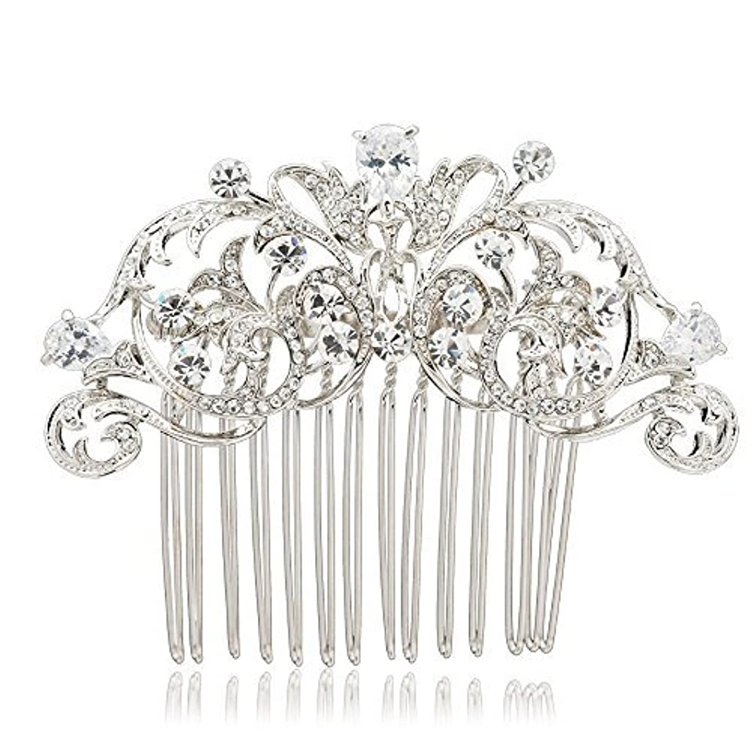 お世話になったおそらくスカリーSEPBRIDALS Crystal Rhinestone Hair Side Comb Pins Bridal Wedding Women Hair Accessories Jewelry 2253R [並行輸入品]