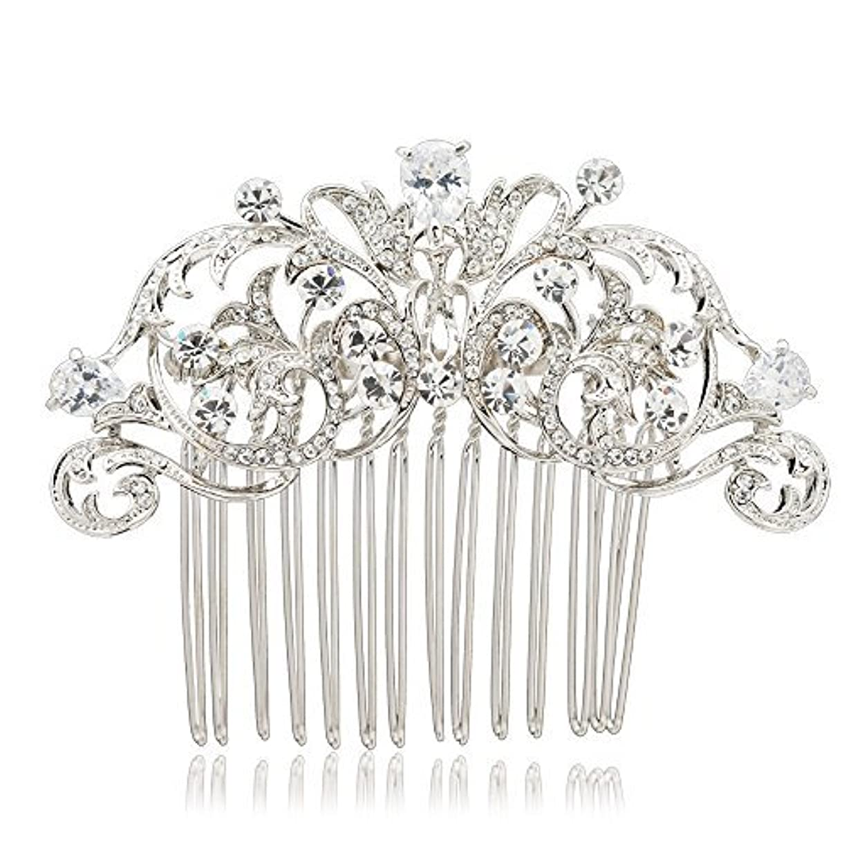 凍結テメリティ暫定SEPBRIDALS Crystal Rhinestone Hair Side Comb Pins Bridal Wedding Women Hair Accessories Jewelry 2253R [並行輸入品]