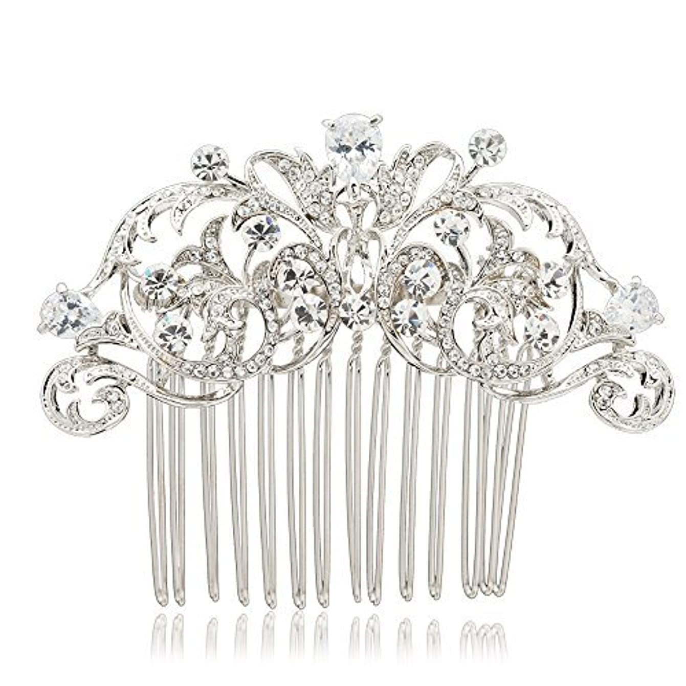 SEPBRIDALS Crystal Rhinestone Hair Side Comb Pins Bridal Wedding Women Hair Accessories Jewelry 2253R [並行輸入品]
