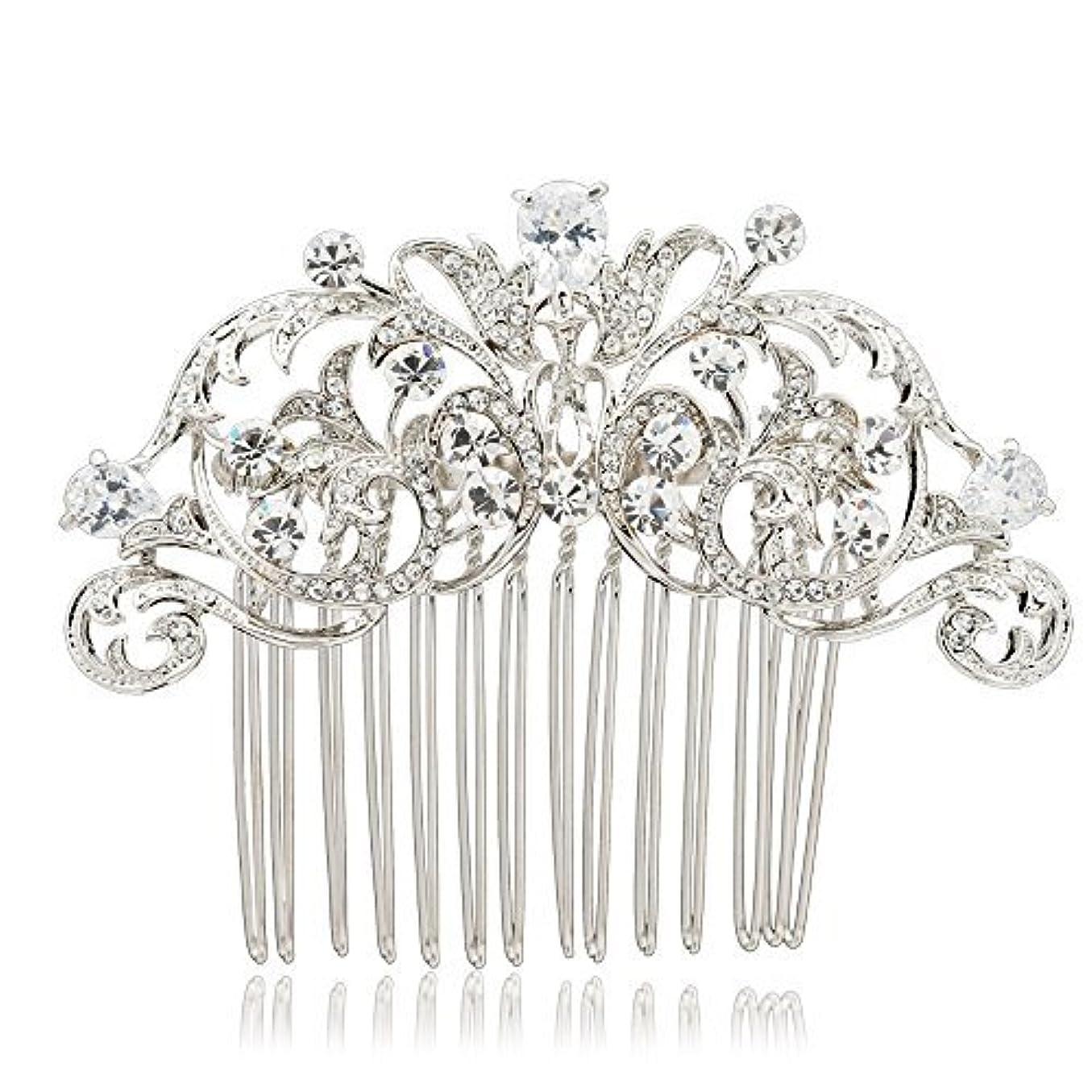 SEPBRIDALS Crystal Rhinestone Hair Side Comb Pins Bridal Wedding Women Hair Accessories Jewelry 2253R [並行輸入品]