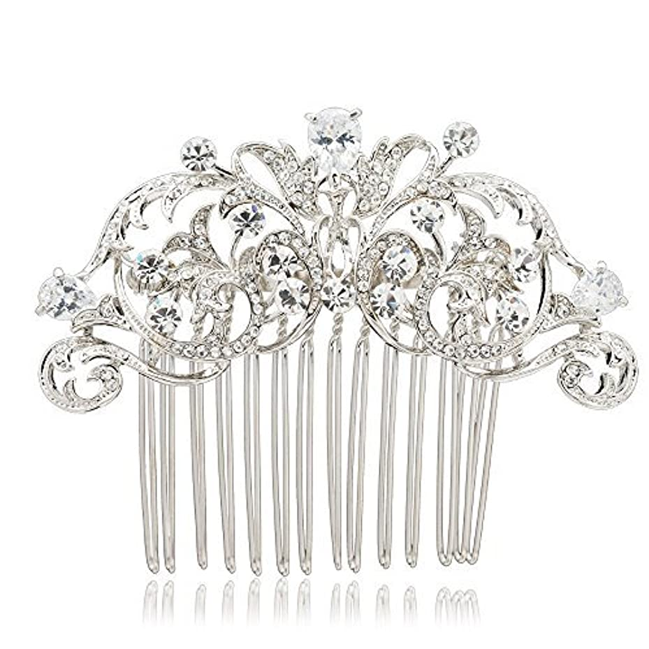 イヤホンレジデンス理論SEPBRIDALS Crystal Rhinestone Hair Side Comb Pins Bridal Wedding Women Hair Accessories Jewelry 2253R [並行輸入品]