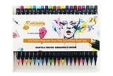 サウスサン 水彩毛筆 カラーペン 筆ペン 20色セット SSWP-20