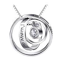 CS-DB Silver Jewelry Interlocking Circles Necklaces & Pendants