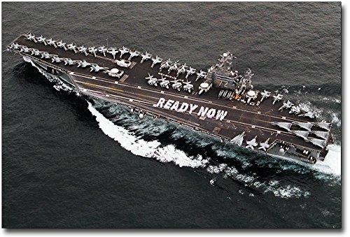 USS Abraham Lincoln Aircraft Carrier 8x 12シルバーHalideフォト印刷
