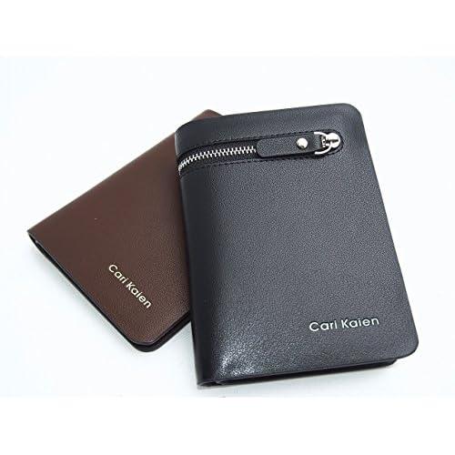 いけてる メンズ できる男の  紳士 大容量 多機能 オシャレ 長財布 (ブラック ショート)