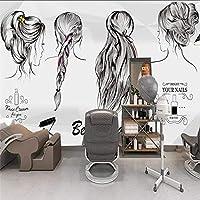 Xueshao とアメリカのトレンドビューティーサロン理髪店の壁の壁紙壁紙壁画-350X250Cm