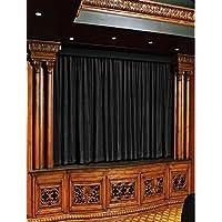 Fascination Royal 100%厚ダブルサイドコットンベルベットTheater curtain-ロッドポケットスタイル( 4.5W足で10L、ブラック)