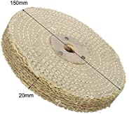 Tool Parts 6in 150 * 20mm Sisal Cloth Buffing Wheel For Metal/Stainless Steel Polishing Tool