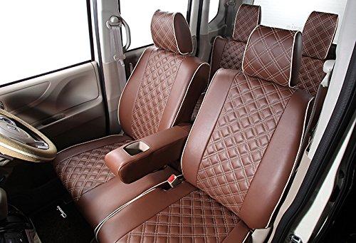 クラッツィオ シートカバー ポルテ 10系 Clazzio キルティング ブラウン×アイボリーステッチ ET-1040