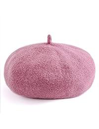 【AMgrocery】ベレー帽 ウール レディース 帽子 ぼうし ベレー ハット フェルト 無地 リブ 大きめ プチプラ シンプル ベーシック レトロ