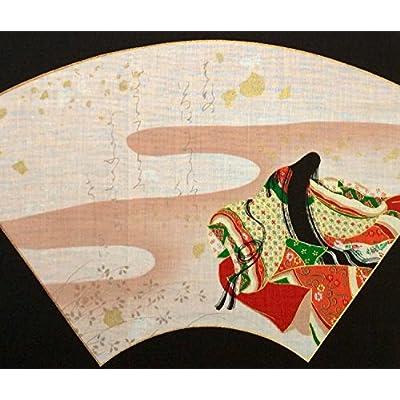 和風 和柄 百人一首 浮世絵 「紫式部」 「小野小町」 2枚組 セット ハンカチ ふろしき 【日本製】 約45cm×約45cm 綿100%