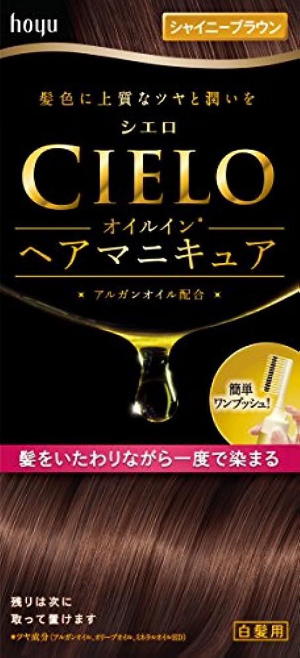 シエロ オイルインヘアマニキュア シャイニーブラウン 100g+3g+10g
