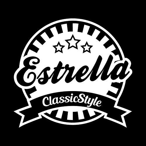 Estrella Classic Style カッティング ステッカー ホワイト 白