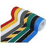 COCOTER 滑り止め ノンスリップ テープ ( 黄黒 青 赤 黄 黒 灰 白) 防水 剥離紙式 屋内 屋外 50mm×5m ロール (レッド)