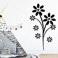 Lixiaoer 花の取り外し可能なPvcウォールステッカー寝室用Diyホームデコレーションウォールステッカー防水壁紙30×52センチ