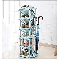 YANFEI 11脚の靴と4傘が収納可能なマルチレイヤーシューラック (色 : G g)