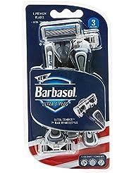 Barbasol ウルトラ6プラスプレミアム使い捨てカミソリ、3カウント