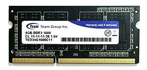 Team ノートPC用メモリ DDR3 1600MHz PC3-12800 シリーズ 永久保証 (4GB)
