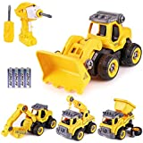 Take Apart Toys for Boys and Girls with Electric Drill, Kids Stem Building Toy,4 in one Converts to Remote Control Car Constr