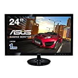 ASUS Gaming モニター 24型 フルHDディスプレイ ( 応答速度1ms / 1,920x1,080 / HDMI×1, DVI-D×1, D-sub×1 / ASCRテクノロジー / VESA規格 / 3年保証 ) VS248HR
