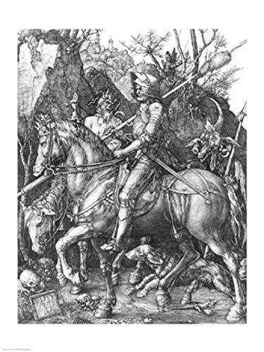 Albrecht Durer – 騎士、死と悪魔、 1513 ファインアート プリント (45.72 x 60.96 cm)