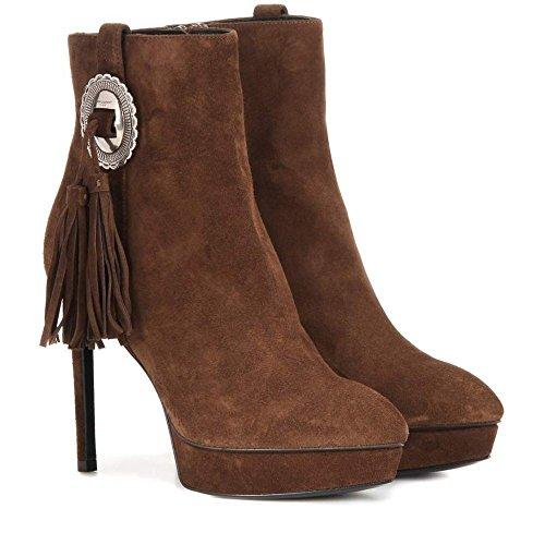 (イヴ サンローラン) Saint Laurent レディース シューズ・靴 ブーツ Janis 80 Concho suede ankle boots [並行輸入品]