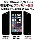 Touching iPhone 6/iPhone 6s 覗き見防止 強化ガラス 液晶保護フィルム プライバシー保護 Anti-Spy Privacy Guard 耐指紋 耐衝撃 9H硬度 超薄型0.33mm 撥油 撥水 コーティング 全面保護