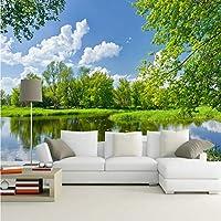 Mingld 中国風の3D自然風景の壁紙長老の家の家の装飾ソファテレビの背景の壁カスタム3D写真の壁紙壁画-250X175Cm