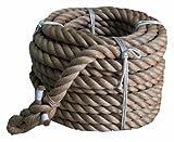 まつうら工業 サイザル麻製 綱引きロープ 太さ30mm 長さ約30m 両端折り返し編み加工付