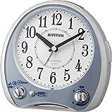 RHYTHM(リズム時計) 高音質メロディ38曲搭載目覚し アリアカンタービレ 青メタリック色 4RM763SR04