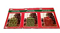 Giant Holiday Gift Bag 3 Pack 36 in x 44 in (Green & Red) by Christmas House