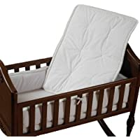 Baby Doll Bedding Cradle Bedding Set, White (Discontinued by Manufacturer) by BabyDoll Bedding