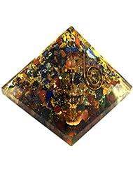 crocon Mix Chakra OrgoneピラミッドエネルギージェネレータレイキHealingオーラクレンジング& EMFの保護サイズ: 2.5 – 3インチ