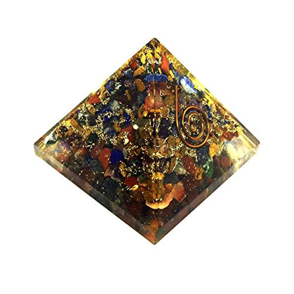 よろしく帰する内側crocon Mix Chakra OrgoneピラミッドエネルギージェネレータレイキHealingオーラクレンジング& EMFの保護サイズ: 2.5 – 3インチ