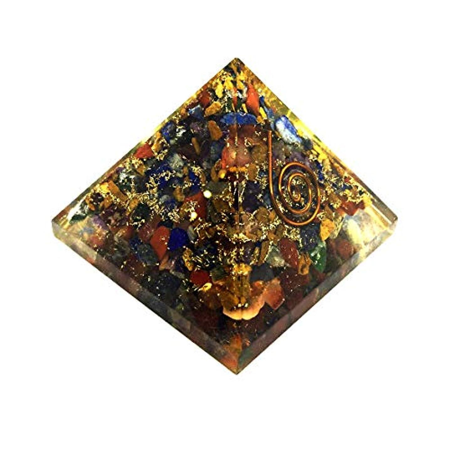 復活させる連帯億crocon Mix Chakra OrgoneピラミッドエネルギージェネレータレイキHealingオーラクレンジング& EMFの保護サイズ: 2.5 – 3インチ
