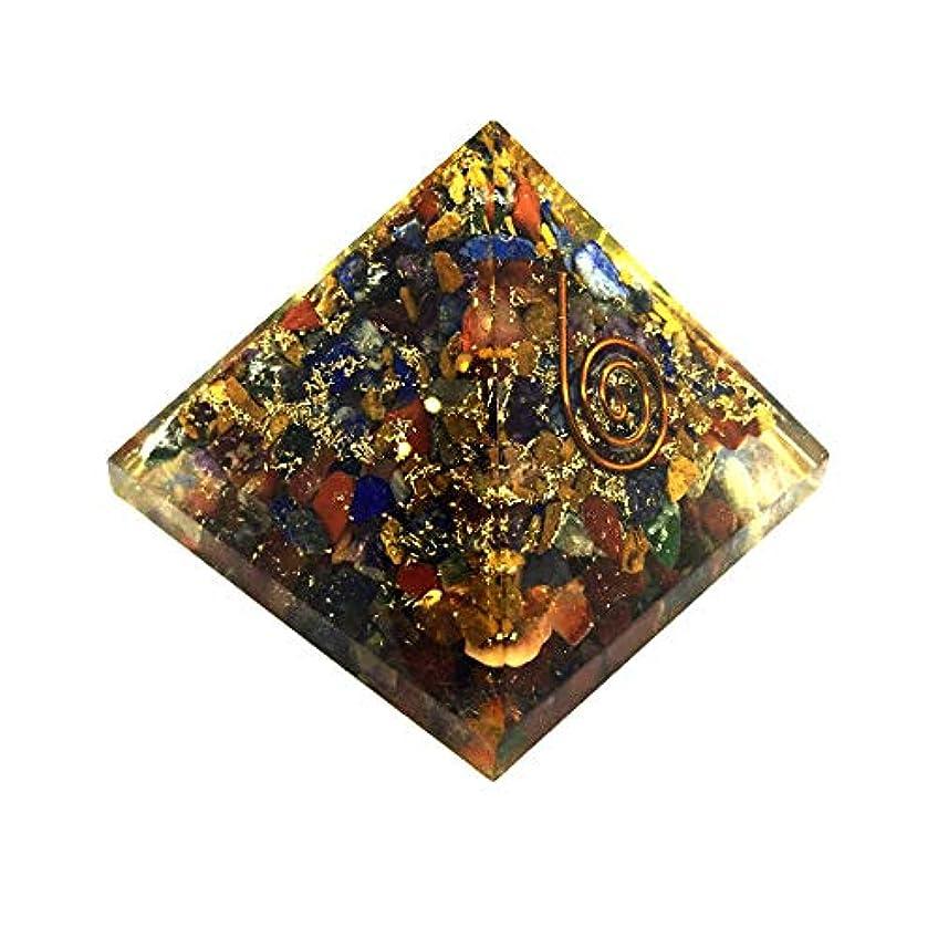 クレタ拾う地雷原crocon Mix Chakra OrgoneピラミッドエネルギージェネレータレイキHealingオーラクレンジング& EMFの保護サイズ: 2.5 – 3インチ