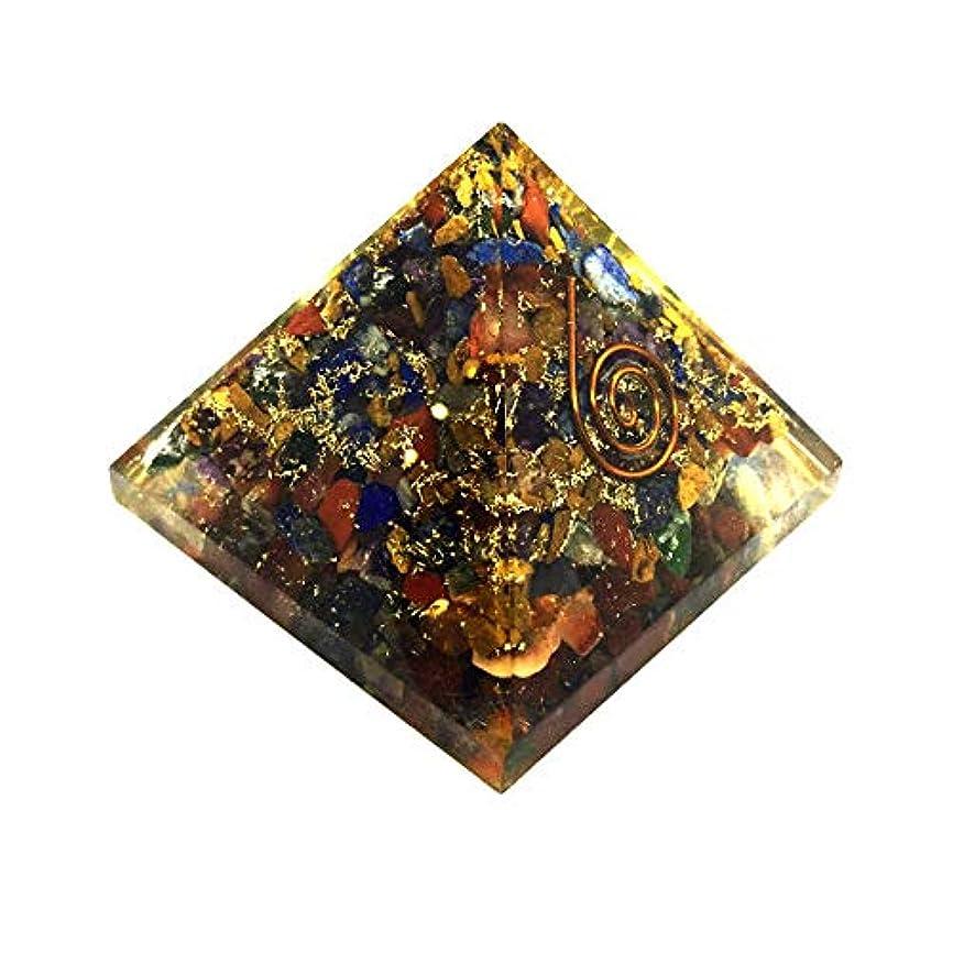 ブランチ傾斜うるさいcrocon Mix Chakra OrgoneピラミッドエネルギージェネレータレイキHealingオーラクレンジング& EMFの保護サイズ: 2.5 – 3インチ