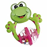 CHICCO ファンティーシングラトル-フロッグ (Fun Teething Rattle-Frog) 00 071697 000 000
