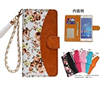 「kaupili」ケース 鏡/ミラー付き カード収納 スタンド機能 手帳型 お財布機能付き 化粧鏡付き76-Y10 {SPJZ} (XPERIA XZ1 SO-01K/SOV36)