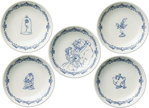 ディズニー 美女と野獣テーブルウェアコレクション 小皿5P 51074