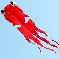Kengel ®アウトドア楽しいスポーツGoldfishソフトカイトwithハンドルと120 ftラインレッド