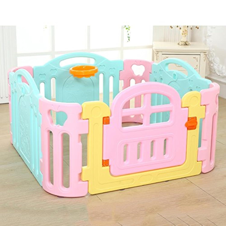 赤ちゃんの遊び場の子供たち8パネルの安全性のプレーセンター庭ホーム屋内屋外マルチカラーキッズ活動エリア120×120×62cm