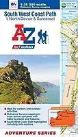 SW Coast Path North Devon Adventure Atlas (A-Z Adventure Atlas)