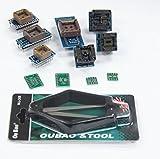 Signstek TL866CS、TL866A、EZP2010などの11PCSプログラマーアダプタソケットキットとIC引き抜き工具
