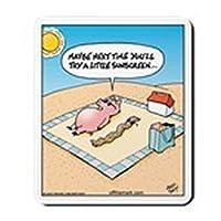 CafePress - Pig Bacon Sunscreen Mousepad - Non-slip Rubber Mousepad, Gaming Mouse Pad
