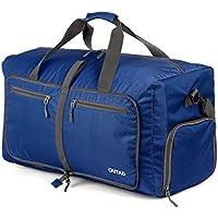 OUTAD 折りたたみ式 バッグ 折り畳みボストンバッグ ナイロン 軽量 バッグ 旅行超軽量バック トラベル ナイロン バッグ アウトドア バッグ ボストン 50L ブルー