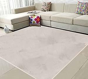 (OSJ)ラグ カーペット ラグマット 絨毯 マイクロファイバー ラグ 滑り止め 洗える ウォッシャブル ホットカーペット対応 フロアマット チェアマット モダンラグ 185X185cm 6色選べる (アイボリー)