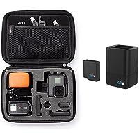 Amazonベーシック キャリングケース GoPro用 Sサイズ ブラック + 【国内正規品】 GoPro ウェアラブルカメラ用充電器 デュアル バッテリー チャージャー + バッテリー HERO5 Black対応 AADBD-001 セット